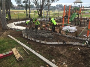 Play Equipment Concreting